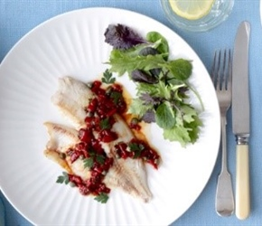 Fish with Vermouth Vinegar Butter Sauce
